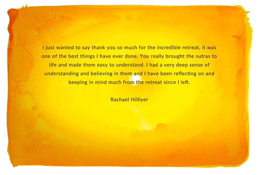 Rachael Hilliyer LARGE BOX, testimonial sanskrit course