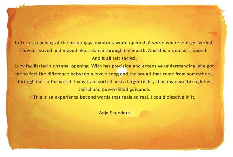 Anja Saunders testimonial