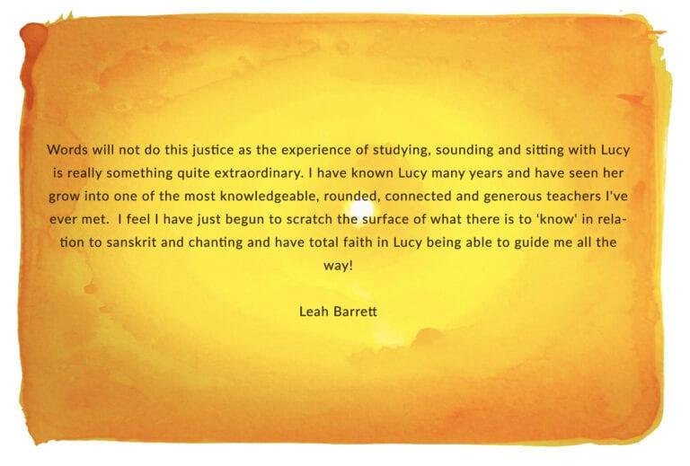 Leah Barrnett SOS testimonial