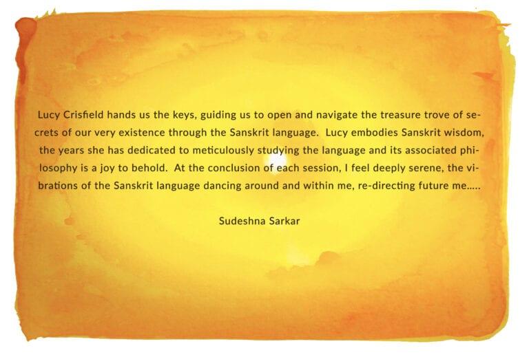 Sudeshna Sarkar SOS testimonial